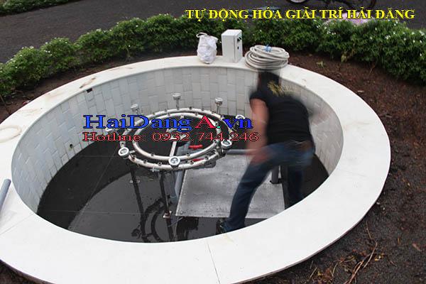 Thi công lắp đặt hệ thống đài phun nước mini biệt thự sân vườn tại Trảng Bom Đồng Nai