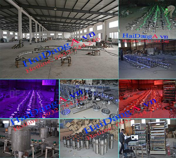 Xưởng gia công hệ thống nhạc nước đài phun nước công ty Hải Đăng