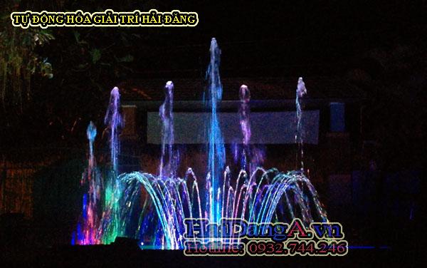 Hệ thống nhạc nước - Đài phun nước nghệ thuật tại cafe nhạc nước Hải Ngân