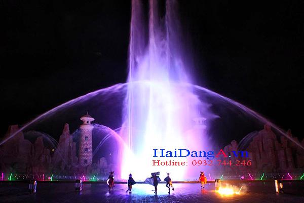 Hệ thống nhạc nước tại Vinpearl Land Phú Quốc