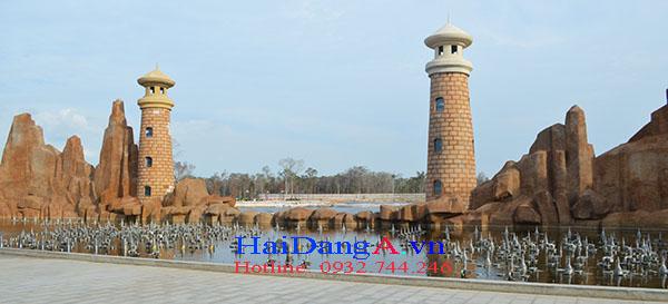 Toàn cảnh hệ thống nhạc nước tại Vinpearl Land Phú Quốc sau khi đã lắp đặt xong