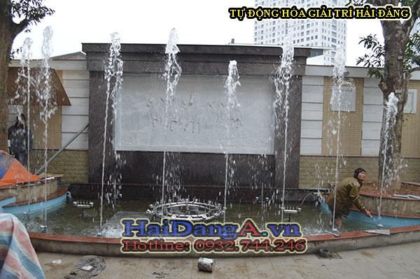 Căn chỉnh hệ thống đầu vòi phun cột nước thẳng đứng HDN-S2 bắn đuổi sinh động