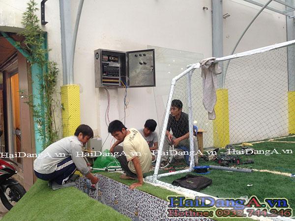 Lắp đặt tủ điện điều khiển đài phun nước tại trung tâm Maika