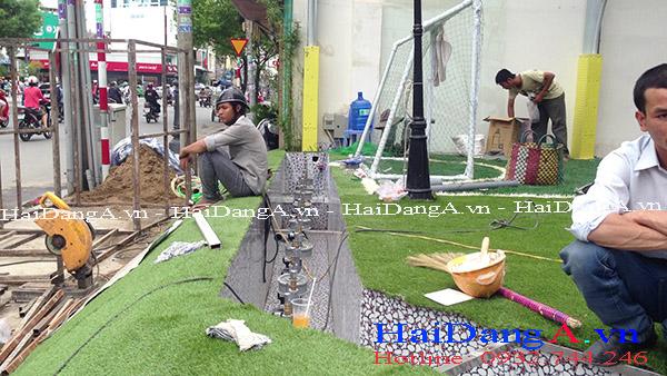 Thi công lắp đặt đài phun nước tại trung tâm giải trí thiếu nhi Maika