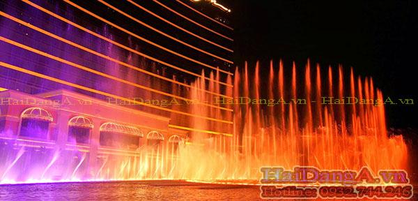 Đài phun nước theo nhạc - Nhạc nước được công ty Hải Đăng thiết kế thi công chuyên nghiệp nhất