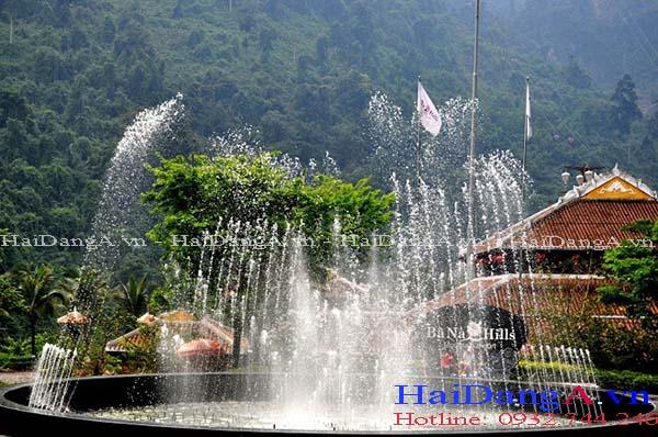 Hệ thống nhạc nước tại Bana Hill nhìn ban ngày