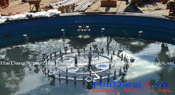 Lắp đặt đầu phun nước múa xoay tròn HDN-RB7 tại công trình
