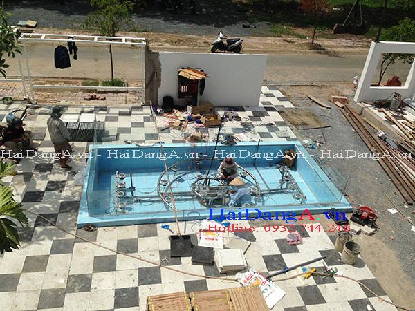 Thi công lắp đặt hệ thống đài phun nước tại quán cafe Vicky Biên Hòa