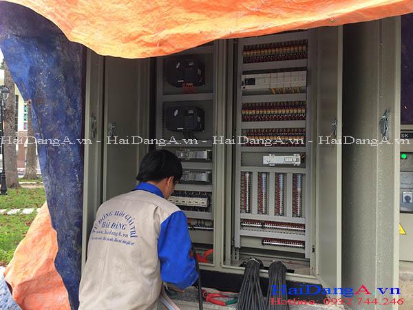Đấu nối tủ điện điều khiển hệ thống phun nước