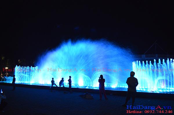 Đầu phun quạt nước khổng lồ trong hệ thống đài phun nước nhạc nước Cần Thơ