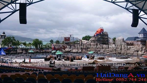 Toàn cảnh thi công công trinh nhạc nước Vinpearl Land Nha Trang