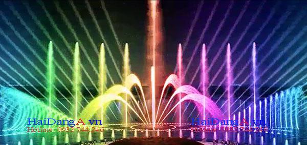 Thiết kế nhạc nước chuyên nghiệp trên sông hồ tự nhiện bằng phao nổi