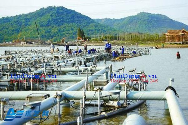 Thi công lắp đặt hệ thống nhạc nước phao nổi trên hồ tự nhiên