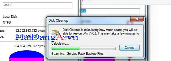 Chờ một lúc để máy tính tự động chọn ra các file cần xóa