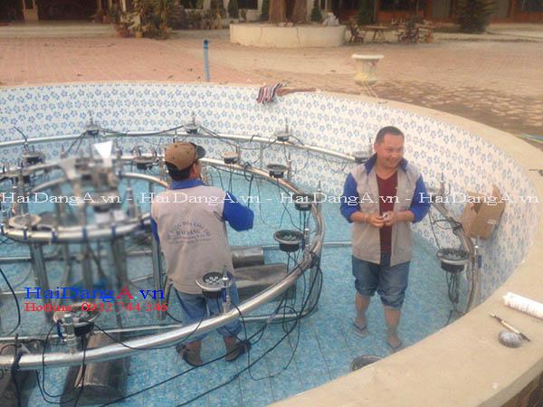 Thi công lắp đặt hệ thống nhạc nước tại Lào