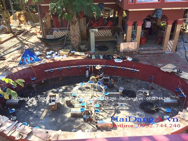 Thi công lắp đặt nhạc nước V9 tại Huyện Đất Đỏ Vũng Tàu