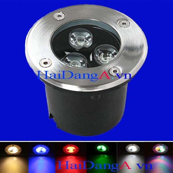 Đèn LED âm đất chịu nước ngoài trời và các màu khác nhau