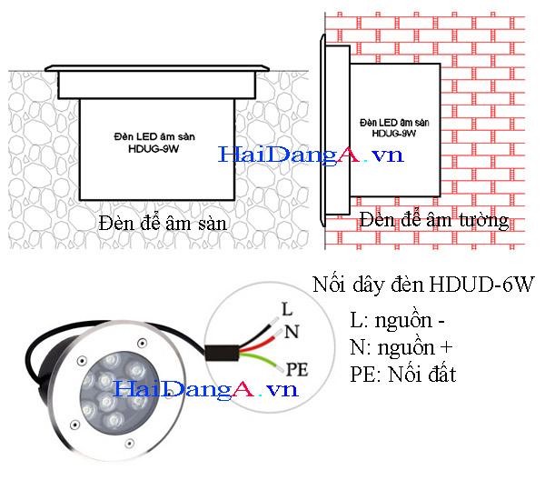 Đèn LED âm sàn bê tông hoặc lắp đặt âm tường