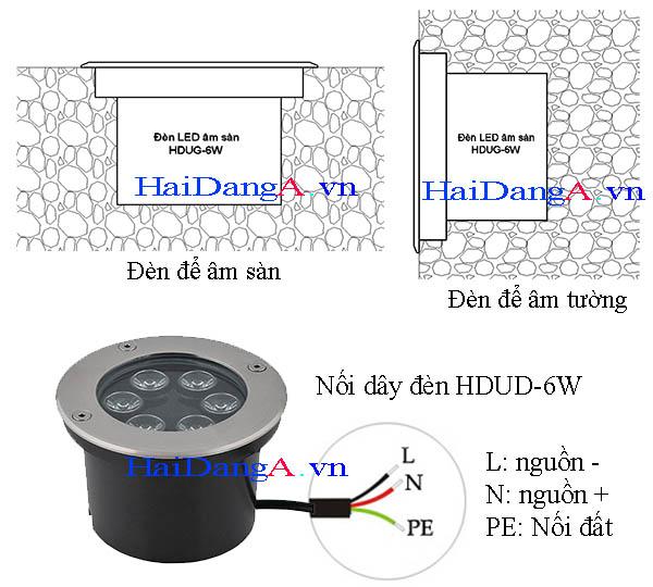 Đèn LED để âm đất hoặc âm tường và cách nối dây