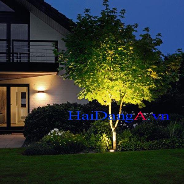 Đèn LED chống chịu nước ngoài trời chiếu sáng cây xanh sân vườn