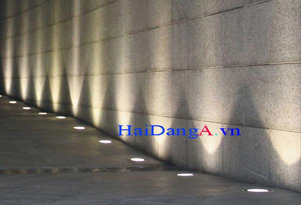 Ứng dụng đèn LED âm sàn bê tông cho chiếu tường