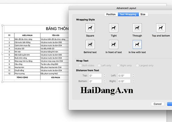 Chỉnh sửa hình ảnh trong word của hệ điều hành iOS cho Macbook