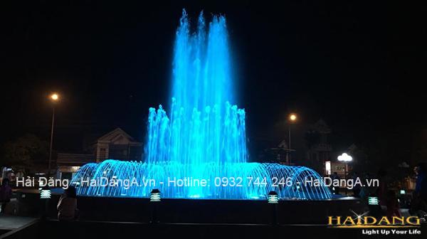 Hệ thống nhạc nước tại công viên thị xã Ba Đồn Quảng Bình