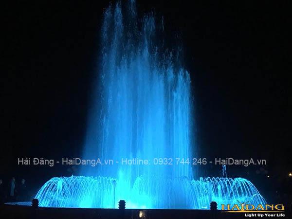 Hoạt động của hệ thống nhạc nước tại công viên thị xã Ba Đồn Quảng Bình