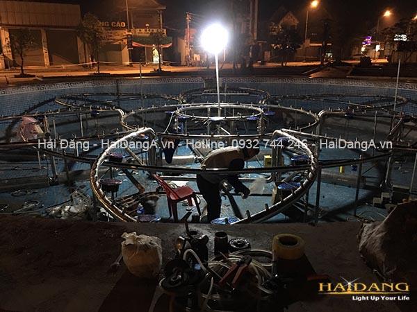 Thi công lắp đặt hệ thống nhạc nước tại công viên thị xã Ba Đồn