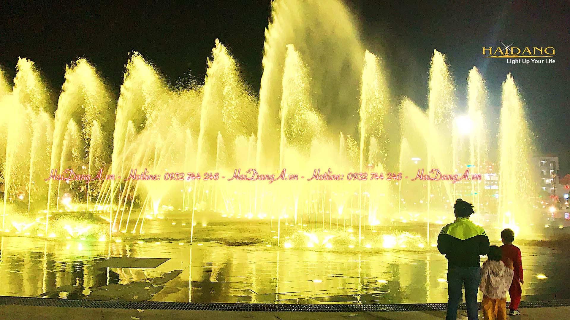 Hệ thống nhạc nước âm sàn rất hoành tráng tại Tuy Hoà tỉnh Phú Yên