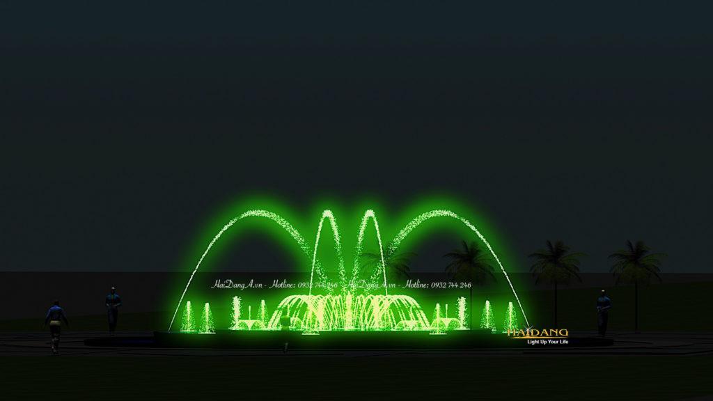 Mẫu nhạc nước hình tròn các vòi phun cầu vồng tia đơn, cầu vòng tròn vòi phun tia phun trong ra ngoài, vòi phun sủi bọt, béc phun hoa loa kèn