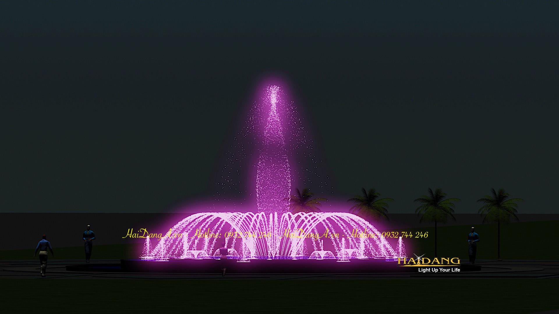 Mẫu thiết kế nhạc nước đài phun nước các vòi phun sủi bọt, hoa loa kèn, biến đổi đa chức năng, vòng tròn tia nước đơn phun cầu vồng