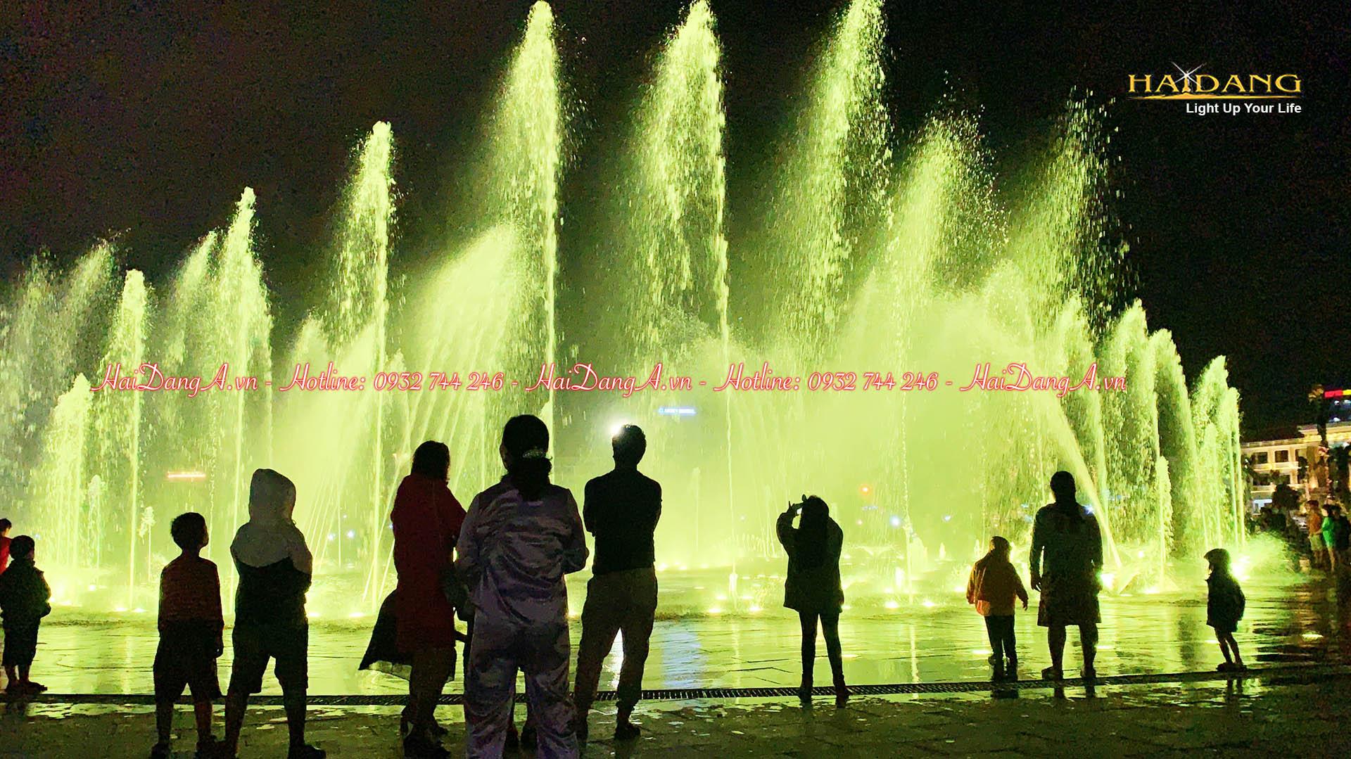 Nhạc nước âm sàn quảng trường 1-4 thành phố Tuy Hoà Phú Yên