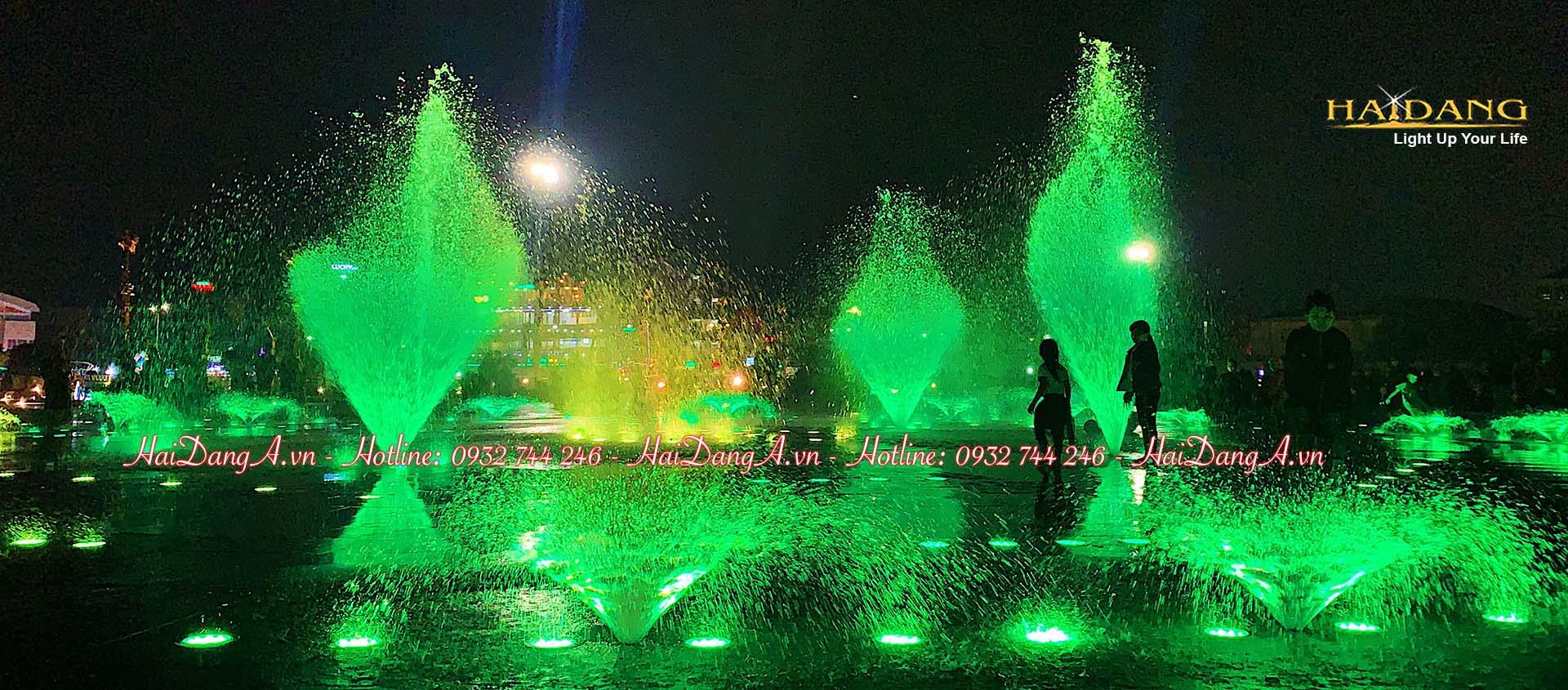 Nhạc nước âm sàn quảng trường Phú Yên với rất nhiều chế độ hoạt động khác nhau