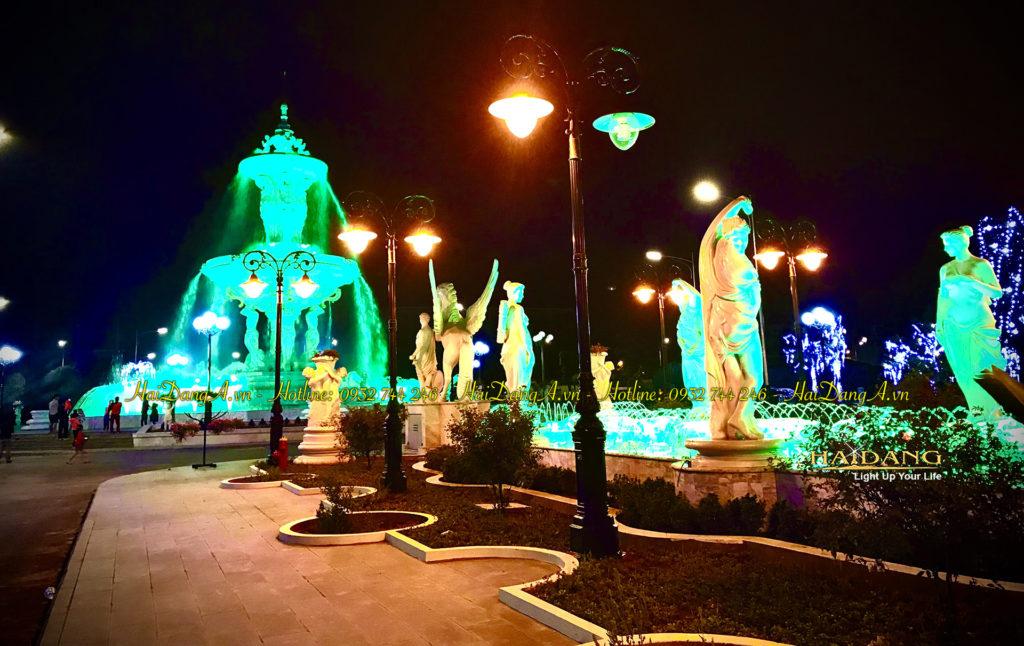 Hệ thống tượng đài kết hợp phun nước ánh sáng âm thanh tạo thành hệ thống nhạc nước tuyệt vời