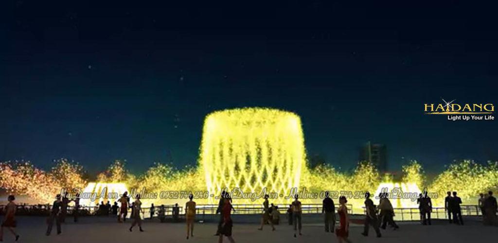 Hình ảnh thiết kế 3D hệ thống nhạc nước tại Kenton Node Huyện Nhà Bè
