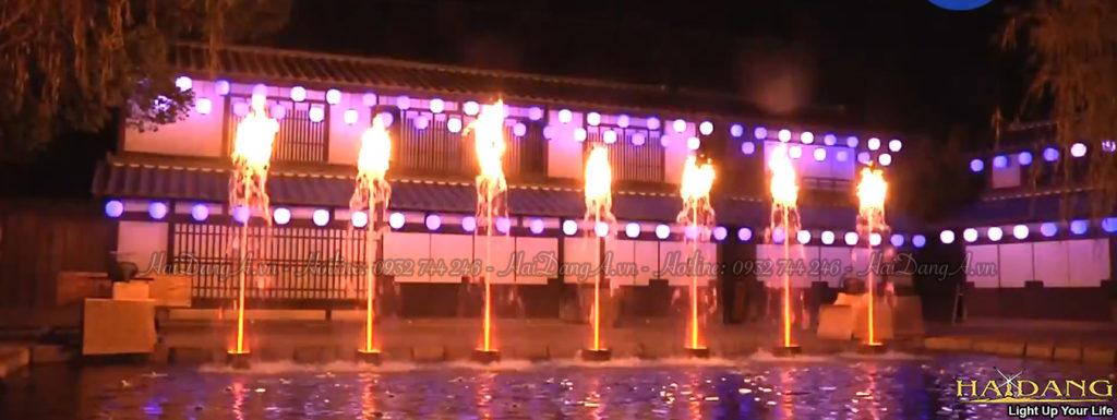 Công nghệ đốt lửa cháy trên nước cho các đài phun nước