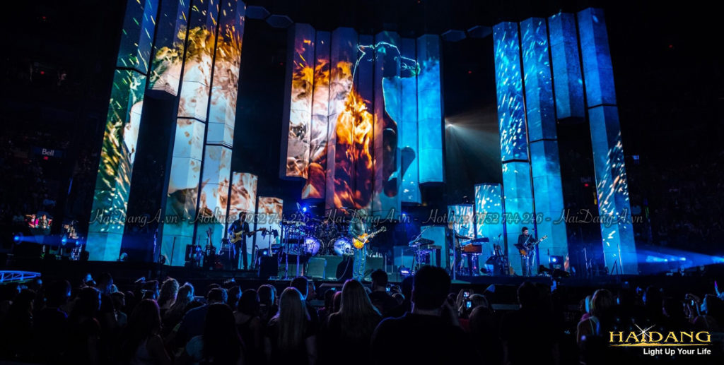 Công nghệ trình chiếu ánh sáng trên tường sân khấu