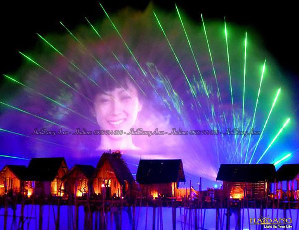 Trình diễn nhạc nước 3D Mapping chiếu phim trên màn nước