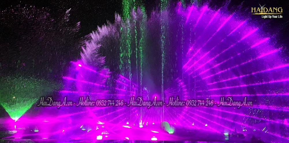 Hệ thống đài phun nhạc nước với hệ thống phun múa vẫy phun quạt nước phun bắn đuổi kết hợp laser  tạo hiệu ứng 3D đẹp mắt