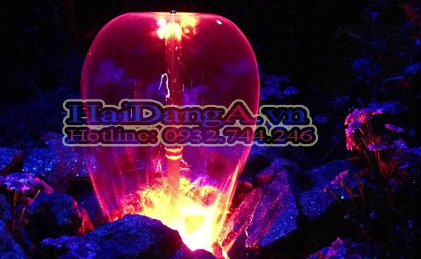 Tạo hình nấm của đầu phun Lava 45-10 E kết hợp với đèn LED