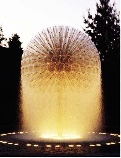 Ứng dụng đầu phun Water Sphere tạo hình quả cầu nước khổng lồ