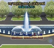 Đài phun nước nghệ thuật hồ nước hình bán nguyệt (phần 1)