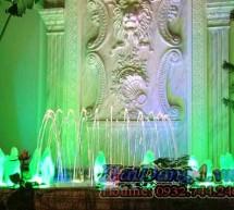 Đài phun nước nghệ thuật sân vườn gia đình anh Thám (Tân Bình – HCM)