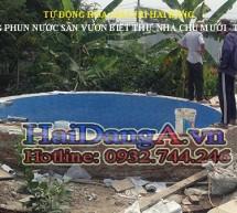 Hình ảnh thi công đài phun nước tại Tiền Giang