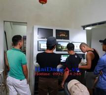 Hình ảnh thi công lắp đặt nhạc nước Vinpearl Land Phú Quốc