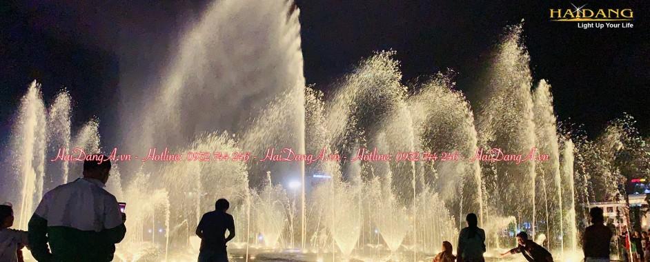 Hệ thống nhạc nước âm sàn quảng trường 1-4, TP Tuy Hoà Phú Yên