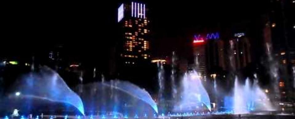 Hệ thống nhạc nước, đài phun nước nghệ thuật tại hồ Symphony (Petronas Twin Towers)
